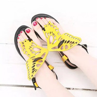 pvc sandals - 2015 New Women s sandals Fasshion Sweet d butterfly model sandals for women color Flat shoes for women Bow Sandals