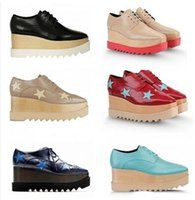 Wholesale Genuine leather High heels lace up Spring Fashion Woman Platform Shoes wedge Single shoes cowhide The stars Shoes