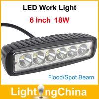 Wholesale LED Work Lights Inch W CREE LED Light Bar Single Row W V k Flood Beam Spot Beam For SUV Truck X2
