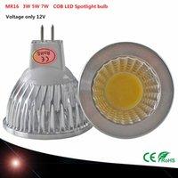 mr16 3w - 1PCS COB MR16 W W W Dimmable V COB Spotlight LED bulb Warm Cool white MR16 LED lamp beam angle LED light