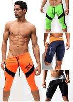 Cheap 2015 summer New Rufskin Mens Swimwear Swimsuits Boxer sport middle sexy gym shorts tight fashion beach shorts shorts AQUX brand