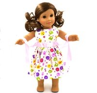 american girl doll - 1pcs Hot Pink Clothes Gifts For Children Girls Doll Accessories Handmade Dress For American Girl Doll MG084
