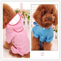 Wholesale Hot Waterproof Dog Puppy Coat Dog Poodle Pet Transparent Raincoat Rainwear Clothes Dress