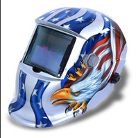 Wholesale 1 Colors Solar Auto Darkening Welding Helmet eagle Mask Grinding Function