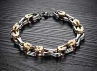 Wholesale High Quality Factory Fashion jewelry L stainless steel biker chain bracelet fashion mens bracelet on sale