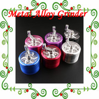 spice smoke - Metal Alloy Tobacco Herb Grinder Layer Parts Hand Grinder Herb Cigarette Smoking Spice Crusher With Handle Rolling For Tobacco Herb Spice