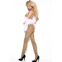 Wholesale Catsuit Crotch Opening - Women Leopard Print Mesh Body Stockings Sleeveless Strap Erotic Zentai Open Crotch Plus Size Sexy Lingerie 79798