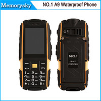 banks english - Original NO A9 Rugged Waterproof Highlight Flashlight Strong Signal mAh Power Bank Cell Phone quot MP in stock