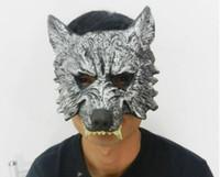 animal celebrities - On Sale Halloween Mask Grey Wolf Mask Masquerade Mask Animal Head Horror Mask carnival mardi gras costume