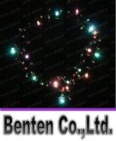 Wholesale Led Necklace Necklaces Flashing Beaded Light Toys Christmas gift DHL Fedex LLFA4765F