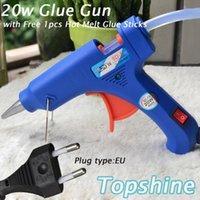 Wholesale 20W Hot Glue Gun Professional High Temp Heater Repair Heat Tool With Free Hot Melt Glue Sticks