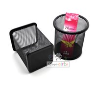 Wholesale With your logo customize pen holder storage box remote control dermo protector supplies multifunctional metal mesh pencil case