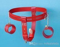 Cheap Adult sex toy offbeat bondage chastity belt suppository underwear pants anal plug chastity belt