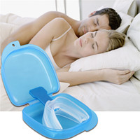 Wholesale New Arrivals Stop Snoring Anti Snore Cessation Mouthpiece Apnea Bruxism Sleeping Aid Silicon C304