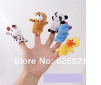 Wholesale Baby Plush Toy Finger Puppets Tell Story Props animal group Animal Doll Kids Toys Children Gift