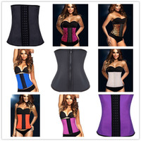 corset xs - Sexy Body Shapers Latex Waist Trainers Cincher Rubber Steel Boned Underbust Corsets For Women Styles XS XL C8478