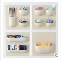 Wholesale 20 Styles Bathroom Storage Holders Racks Accessories non trace Strength can be used repeatedly Storage Rack Paste Hanging Shelf R1403