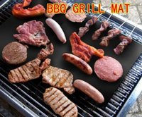 Wholesale BBQ Grill Mat Stick Reusable Washable Plate PTFE Coated Telflon Mats