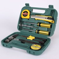 Wholesale Free DHL new Ferramentas Tools Kit in set of tools hands multi tool screwdriver knife set hardware tools suite Toolbox