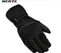 Wholesale Germany NERVE Height of the cold waterproof gloves Wear hockey in winter to keep warm motorcycle gloves Black color and size M L XL XXL
