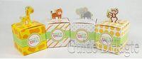 Wholesale wedding boxes Giraffe elephant monkey tiger animals Baby Shower favors Birthday Party Children s day box