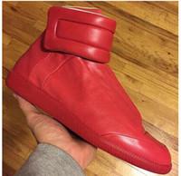 hip hop shoes - Margiela Promotion Fashion Sneakers Genuine Leather Hi Stree Hip Hop Casual Men Sports Shoes Plus Size Mens Sneakers Shoes