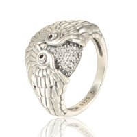 Silver aquamarine diamonds - sterling silver Owl mens rings with diamond for women or man fit Aquamarine style jewelry sets No80 RIPY033