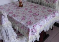 Wholesale 2015 Charming Floral Cloth High Quality Table Cloths with Lace Edge High Quality cm Accessories Cheap Custom Made