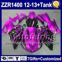 Wholesale 7gifts For KAWASAKI Purple black NINJA ZZR1400 ZZR F5213 ZZR ZX14R Purple blk Fairing