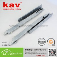 Wholesale MassMutual rail factory in Dongguan three hidden buffer drawer slide off the track since BTH furniture