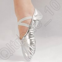 ballet boy - 100PAIR HHA710 Gold silver Size23 children soft sole girls ballet shoes Women Ballet Dance Shoes for kids adult ladies