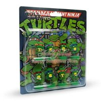 Wholesale Popular Hot Game logo Teenage Mutant Ninja Turtles Cartoon PVC Action Toy Model Figures Kids Doll Spring Christmas surprise ideas gifts