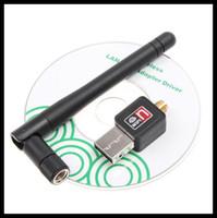 Wholesale 100 Original Mini M USB WiFi Wireless Network Networking Card LAN Adapter Antenna Computer Accessories Software Driver