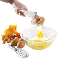 Wholesale Egg Cracker Handheld York White Separator Easy Crackers Separate Egg Kitchen Gadget Tool ZH168