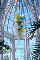 art gallery hanging - CE UL Mouth Blown Dale Chihuly Borosilicate Murano Glass Art Hanging Chandelier Craft Gallery Art Glass