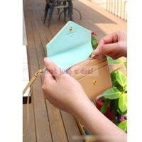 bank envelopes - Fashion Slot Mini ID Bank Card Cash Cellphone Envelope Wallet Women Lady Girl Handbag Pouch
