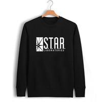 allen fashion - The Flash Barry Allen Star Lab Labs Black Color Mens Sweatshirt Men Novelty Heroes Pullover Male Clothes Arrow Friend
