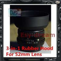 Wholesale New mm mm in1 Stage Rubber Lens Hood Universal for Nikon Canon Pentax PA198