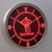 other beer rum - nc0113 Captain Morgan Spiced Rum LUMINOVA Neon Sign Bar Beer Decor LED Wall Clock Dropshipping