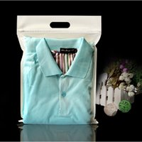 Wholesale 80pcs cm cm cm Half Clear Half White Clothes Non woven Bag Plastic Handle Shopping Bag