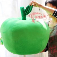 apple throw pillows - new big apple plush toy cute apple throw pillow soft cushion for leaning on Christmas gift