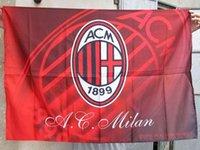 ac flag football - Football fans supplies souvenirs CM CM Milan AC brigade flag