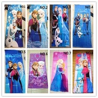 Wholesale 10 kinds of style New frozen Towel children beach towel kids bath towel Elsa Anna OLAF cotton towels bathroom cm H0251