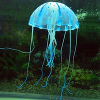 Wholesale Decoration Jellyfish Aquarium Artificial Glowing Effect Fish Tank Ornament B jellyfish lamp fake jellyfish oceanic aquariums
