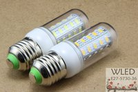 Cheap 220V 110V E27 E14 B22 G9 Gu10 led light SMD 5730 E27 led corn bulb lamp, 36LED 12W 5730smd Warm white white 5730 led lighting @ WLED47