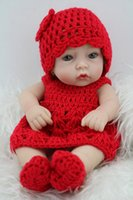 baby hard hats - Reborn Baby Doll Hard Silicone inch cm Waterproof Toy Sweater Hat Red Toy Collectible Gift