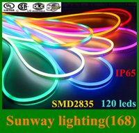 leds waterproof flexible waterproof led strip - Newly LED strip lights waterproof IP65 flexible LED strip SMD2835 leds both side glowing high bright colors neon light m