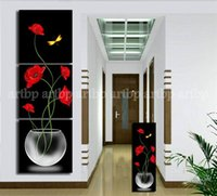 acrylic paint cans - Piece Black And Red Living Room Decorative Canvas Oil Painting Modern Paint Acrylic Paints Art Large Oil Can