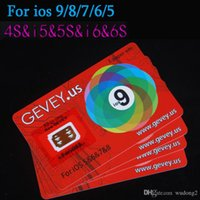 Wholesale Gevey Sim Unlock Card Perfect unlock for iphone S plus iphone S s s ios9 X AT T T mobile Sprint Gevey sim WCDMA GSM CDMA