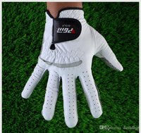 golf gloves leather - Genuine Leather Golf Gloves Soft Breathable Pure Sheepskin Men s Left Right Hand Golf Gloves Golf accessories